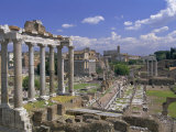 View Across the Roman Forum  Rome  Lazio  Italy  Europe