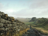 Hadrian's Wall  Towards Crag Lough  Northumberland England  UK