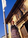 Sherpa Woman  Gapchu Monastery  Solu Khumbu  Nepal
