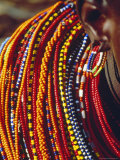 Kenya  Samburu Woman Wearing Decorative Beads