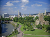 City Centre from Castle Green  Bristol  Avon  England  UK  Europe