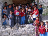 Group of Children Outside School  Gulmit  Upper Hunza Valley  Pakistan  Asia