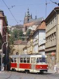 Tram in the Lesser Quarter  Prague  Czech Republic  Europe