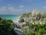 Mayan Archaeological Site  Tulum  Yucatan  Mexico  Central America