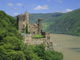 Rheinstein Castle Overlooking the River Rhine  Rhineland  Germany  Europe
