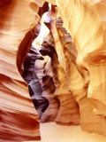 Coloured Rock in Waves Formation in Upper Antelope Canyon  Slot Canyon  Page  Arizona  USA