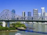 The Storey Bridge and City Skyline  Brisbane  Queensland  Australia