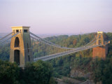 Clifton Suspension Bridge  Built by Brunel  Bristol  Avon  England  United Kingdom (UK)  Europe