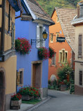 Traditional Architecture of Neidermorschwir  Alsace  France