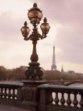 The Eiffel Tower Seen from the Pont Alexandre III at Dusk  Paris  France