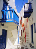 Mykonos  Mykonos Town  a Narrow Street in the Old Town Cyclades Islands  Greece
