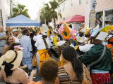 Goombay Festival in Bahama Village  Petronia Street  Key West  Florida  USA