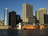 Staten Island Ferry  Business District  Lower Manhattan  New York City  New York  USA