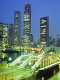 Elgin Bridge and Skyline of the Financial District  Singapore