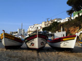 Fishing Boats on the Beach  Carvoeiro  Algarve  Portugal