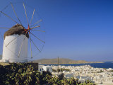View from the Upper Windmills to Mykonos Town  Mykonos  Cyclades Islands  Greece