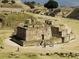 The Ancient Zapotec City of Monte Alban  Near Oaxaca City  Oaxaca  Mexico  North America