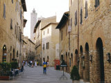 Via San Giovanni  San Gimignano  Tuscany  Italy