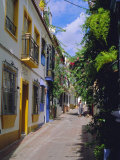 Typical Old Town Street  Marbella  Costa Del Sol  Andalucia  Spain