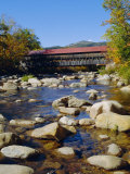 Albany Covered Bridge  Swift River  Kangamagus Highway  New Hampshire  USA