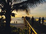 Sunset at Naples Pier  Florida  USA