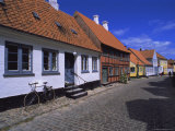 Street of Colourful Houses  Aeroskobing  Island of Aero  Denmark  Scandinavia  Europe