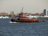 Tug on Hudson River  Manhattan  New York City  New York  United States of America  North America