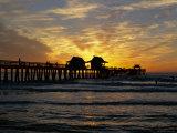 Sunset at Naples Pier  Naples  Florida  USA