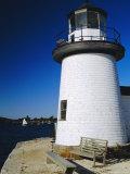 Lighthouse  Living Maritime Museum  Mystic Seaport  Connecticut  USA