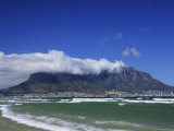 Table Mountain Viewed from Bloubergstrand  Cape Town  South Africa