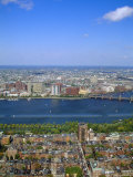 Charles River  Back Bay Area  Boston  Massachusetts  USA