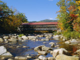 Albany Covered Bridge  Swift River  Kangamagus Highway  New Hampshire  USA
