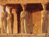 Caryatids Portico  Figures of the Six Maidens  Erechtheion  Athens  Greece  Europe