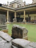 The Roman Baths  Bath  Avon  England  UK