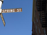 Spring Street  Soho  Manhattan  New York City  New York  United States of America  North America