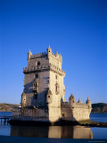 Torre De Belem (Tower of Belem)  Built 1515-1521 on Tagus River  Lisbon  Portugal