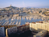 Cityscape of the Port of Marseille  France