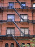 Apartment Fire Escapes  Brooklyn  New York  Ny  USA