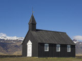 Black Timber Church at Budir  Snaefellsnes Peninsula  North West Area  Iceland  Polar Regions