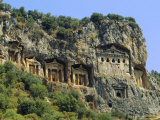 Lycian Rock Tombs  Dalyan  Turkey  Eurasia