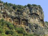 Lycian Rock Tombs  Dalyan  Turkey  Eurasia