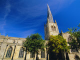St Mary and All Saints Church with Its Twisted Spire  Chesterfield  Derbyshire  England  UK