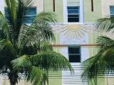 Art Deco Building Detail  South Beach  Miami Beach  Florida  USA