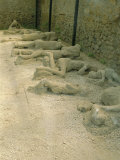 Casts of People Buried in the Destruction  Pompeii  Campania  Italy