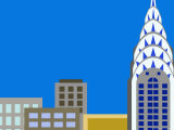 Illustration of Chrysler Building  Manhattan  New York  USA