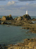 Corbieres Lighthouse  Jersey  Channel Islands  UK  Europe