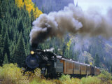 Steam Train  Durango & Silverton Railroad  Silverton  Colorado  USA