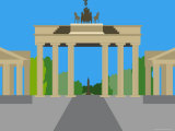 Illustration of the Brandenburg Gate  Berlin  Germany