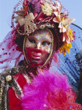 Person Wearing Masked Carnival Costume  Venice Carnival  Venice  Veneto  Italy