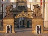 Palace Guards Outside First Courtyard  Prague Castle  Prague  Czech Republic  Europe